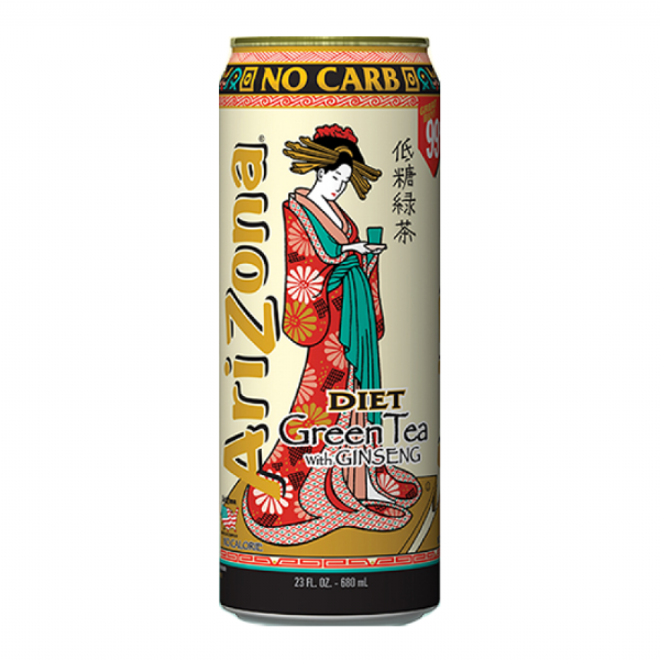 Arizona Diet Green Tea with Ginseng 23oz 680ml